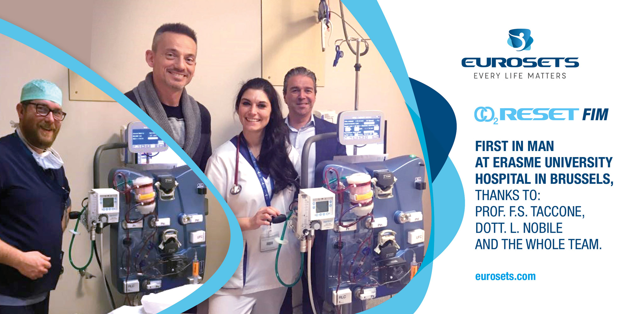 Eurosets announces first patient treated with CO2Reset