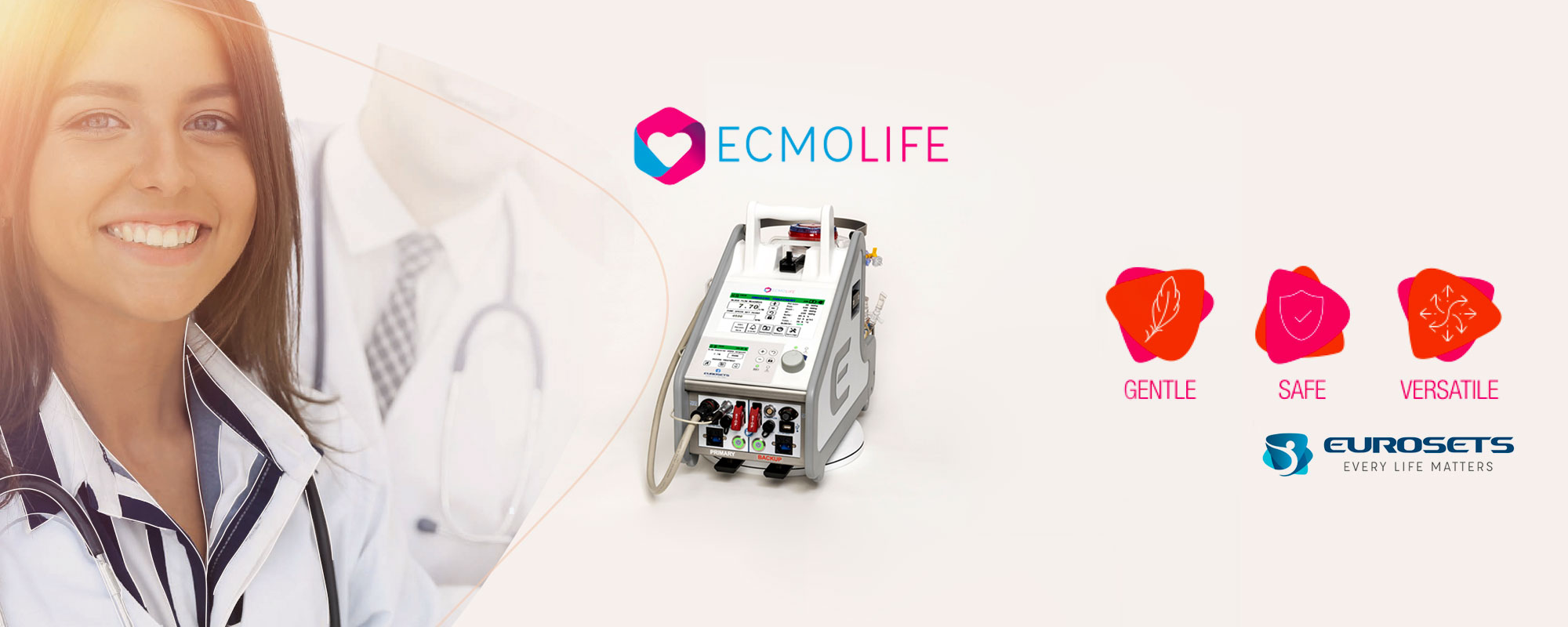 Eurosets annuncia il lancio sul mercato di ECMOlife, innovativo sistema portatile di supporto del cuore e del polmone attraverso la circolazione extracorporea